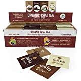 Organic Chai Tea Variety Pack - Organic Chai Tea Sampler - 80 Tea Bags - 20 of Each Flavor (2 grams each) by Kiss Me Organics