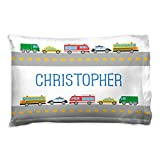 ChalkTalkSPORTS Personalized Kids Pillowcase | Cars with Custom Name