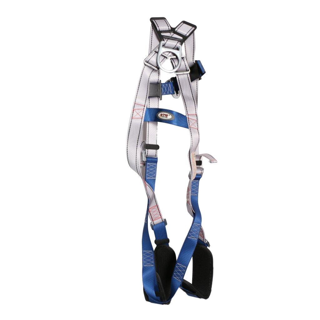 MagiDeal 22kN Escalade Baudrier Complet Harnais de Sécurité Ceinture de Protection en Polyester Haute Résistance
