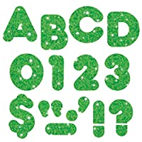 "Trend Enterprises Inc. Green Sparkle 4 ""Casual UC Ready Letters"