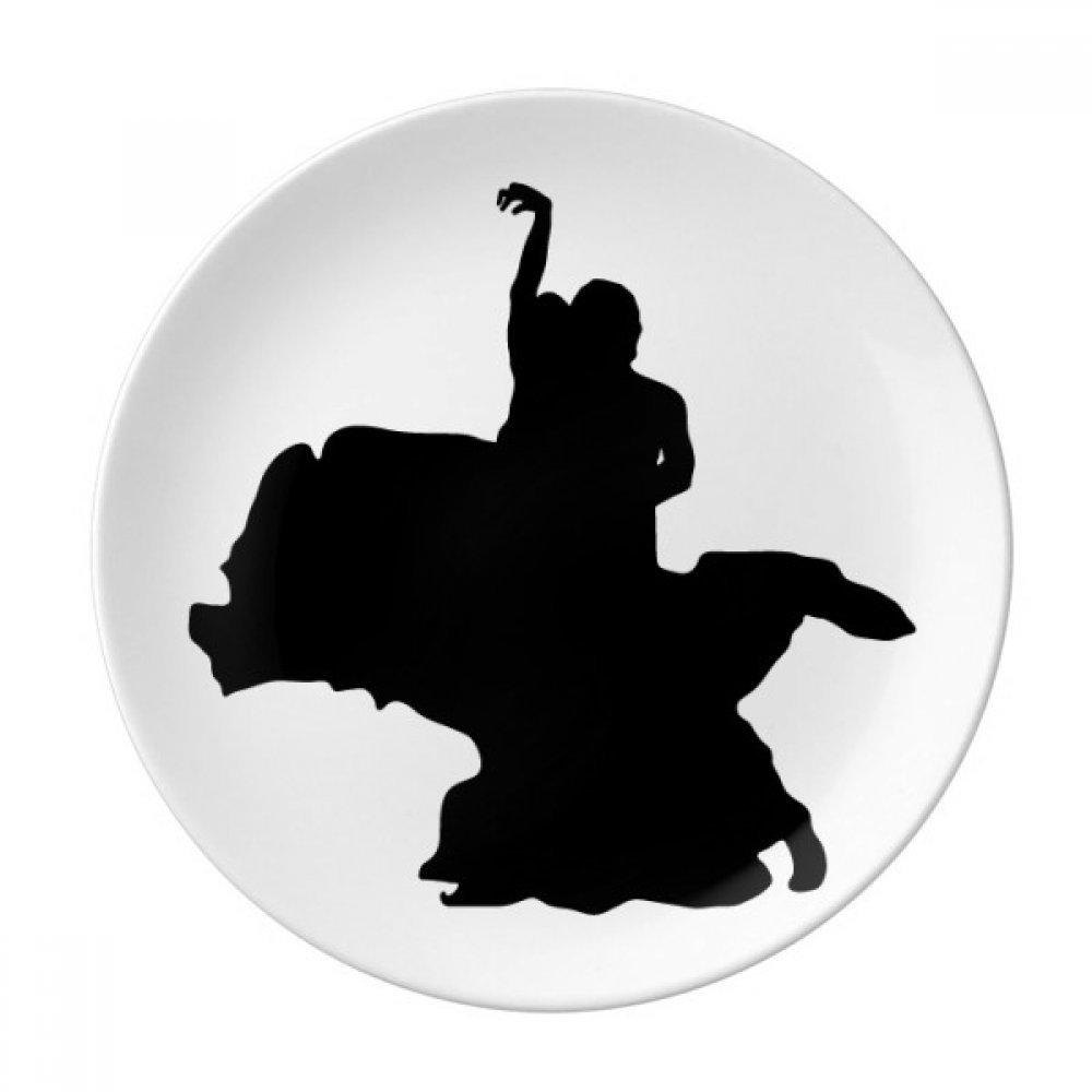 Dancer Duet Dance Art Performance Dessert Plate Decorative Porcelain 8 inch Dinner Home