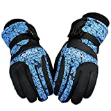 Ski Gloves,ANGTUO Waterproof Windproof Gloves for Adult Children Winter Gloves Padded Durable Full Finger Gloves for Cycling , climbing, skiing