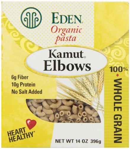 Eden Organic Kamut Elbows, 100% Whole Grain, 14-Ounce Boxes (Pack of 6)