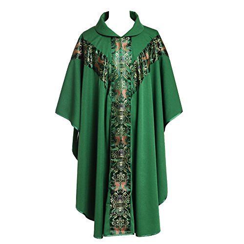 Green Chasuble - BLESSUME Green Chasuble Catholic Church Father Priest Mass Vestments