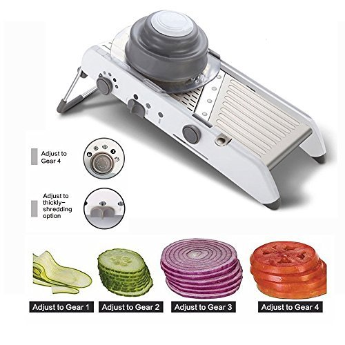 TFCFL Mandoline Manual Slicer Adjustable Blades Vegetable Potato Onion Slicer Kitchen Food Fruit Cutter Waffle French Fry Cutting Tools