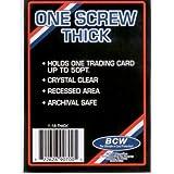 BCW 1 Screw Thick Card Holder - 50 Pt. - Jersey or Memorabilia Card Screwdown