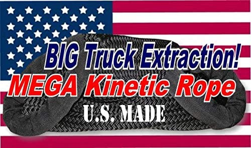 Big Truck Recovery U.S Made 1-1//4 inch X 30 ft Safety Orange Safe-T-Line Kinetic Snatch Rope with Heavy-Duty Carry Bag BILLET4X4
