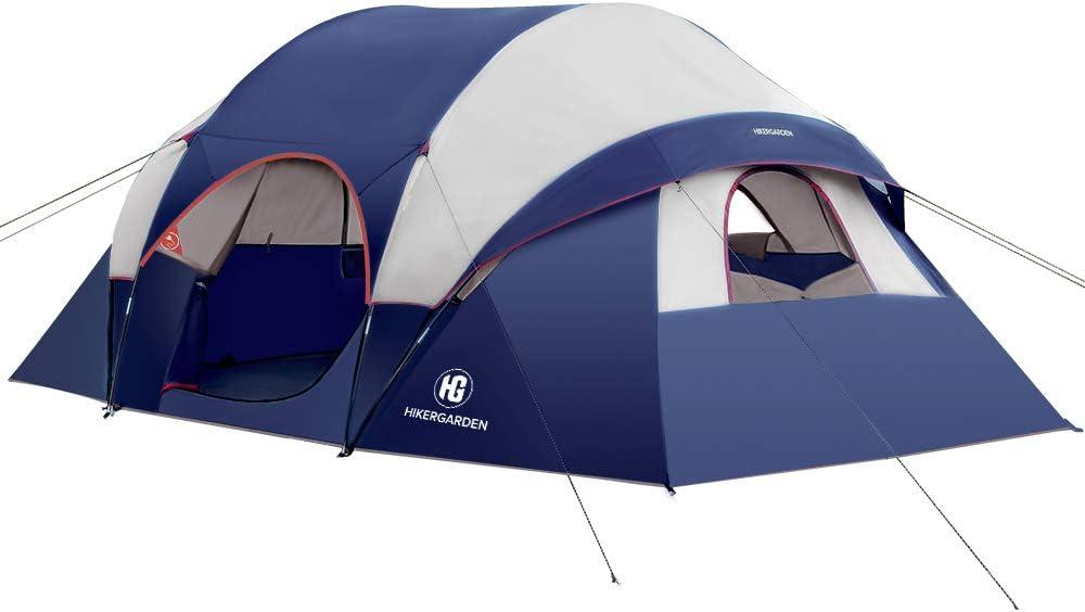 8 personnes-camping-Tentes 5... Hikergarden Tente Imperméable Coupe-vent famille tente