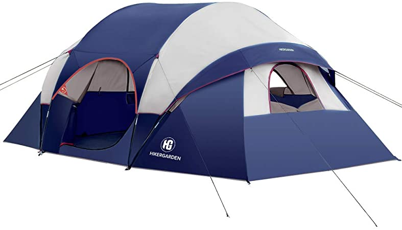HIKERGARDEN Camping Tent - 10 Person Tent