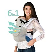 LILLEbaby SIX-Position, 360° Ergonomic Baby & Child Carrier – The COMPLETE Airflow (Mist w/Frosted Rose)