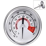 Ecloud ShopCA Barbecue Pit Smoker Grill Thermometer Temperature Gauge