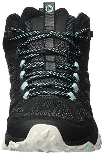 Tex Noir Chaussures Sarcelle Mid Merrell Hautes Randonnée Gore FST Moab Noir de Femme PXPqwAI
