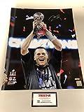 #3: Tom Brady Autographed Signed New England Patriots Super Bowl LI 16x20 Photo TRISTAR