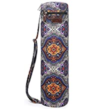Yoga Mat Bag, Boence Full Zip Exercise Yoga Mat Sling Bag with Sturdy Canvas, Smooth Zippers, Adjustable Strap, Large Functional Storage Pockets - Fits Most Size Mats
