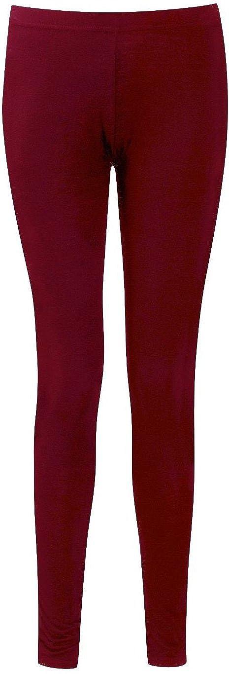 GUBA Womens Ladies Plain Stretchy Full Ankle Length Leggings Legging Plus Size 8-26