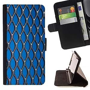 For Apple (5.5 inches!!!) iPhone 6+ Plus / 6S+ Plus Case , Opresión Libertad Azul metal- la tarjeta de Crédito Slots PU Funda de cuero Monedero caso cubierta de piel