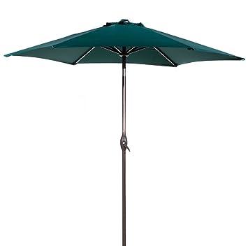 Abba Patio 9 Ft Market Outdoor Aluminum Patio Umbrella With Tilt U0026 Crank,  Dark Green
