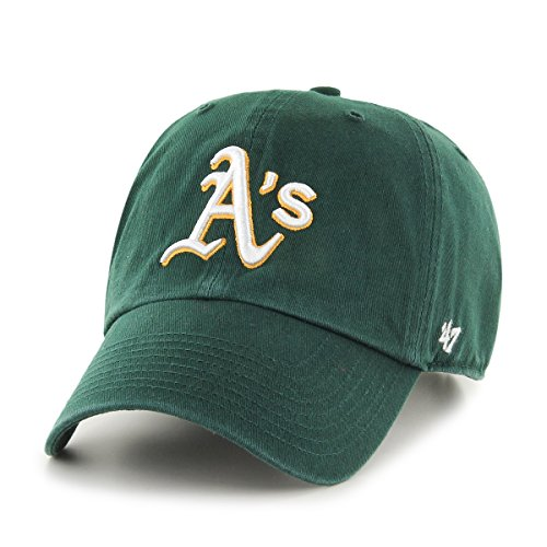 Oakland Athletics Gear (MLB Oakland Athletics '47 Clean Up Adjustable Hat, Dark Green, One Size)
