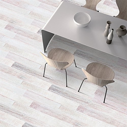 Cheap  VanBest 3D Self-adhesive Flooring Stickers Simulation Wood Decals Kitchen Bedroom Living Room..