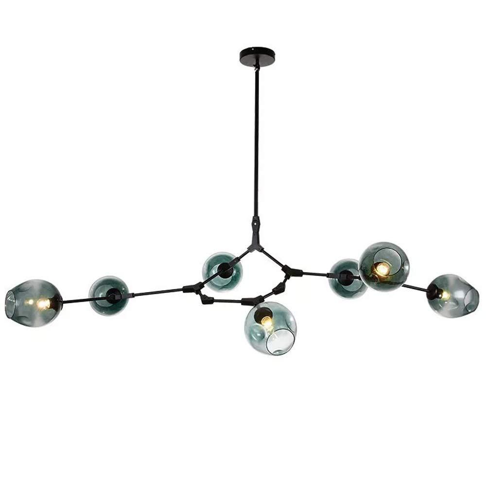 Moderne Glasanhänger Glasanhänger Glasanhänger Light Nordic Speisesaal Küche Light Designer Hängende Lampen Avize Glanz Beleuchtung (3Heads, 5Heads, 6Heads, 8Heads, 10Heads),schwarzpole,8Heads c04901