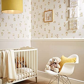 Arthouse Bär Umarmungen Teddy Bär Muster Sterne Mond Kinderzimmer ...