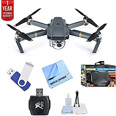 fda1790f7c7 DJI Mavic Pro Quadcopter Drone with 4K Camera and Wi-Fi + Ultimate Bundle  with 16gb jump drive deluxe cleaning kit high speed card reader VR goggles  and 1 ...