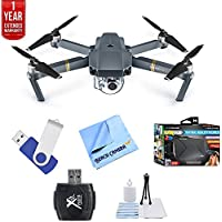 DJI Mavic Pro Quadcopter Drone with 4K Camera and Wi-Fi + Ultimate Bundle with 16gb jump drive deluxe cleaning kit high speed card reader VR goggles and 1 year warranty extension