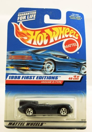 - JAGUAR D-TYPE * BLUE * 1998 FIRST EDITIONS SERIES #6 of 40 HOT WHEELS Basic Car 1:64 Scale Series * Collector #638 *