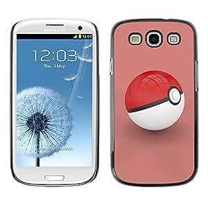 PC/Aluminum Funda Carcasa protectora para Samsung Galaxy S3 I9300 Poke Red / JUSTGO PHONE PROTECTOR