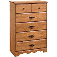 Prairie Collection 5-Drawer Chest - Country Pine Finish by South Shore