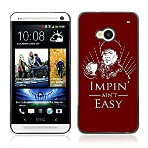 Colorful Printed Hard Protective Back Case Cover Shell Skin for HTC One (M7) ( Impin ain't Easy Game Of Thrones Funny )