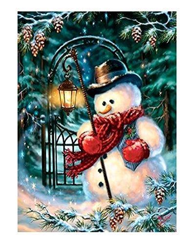 Enchanted Snowman - Enchanted Christmas Snowman Ez Grip 300 Pc Jigsaw Puzzle with a Book Box