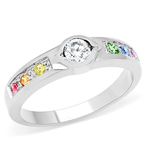 ring bhp rainbow engagement sapphire ebay rings