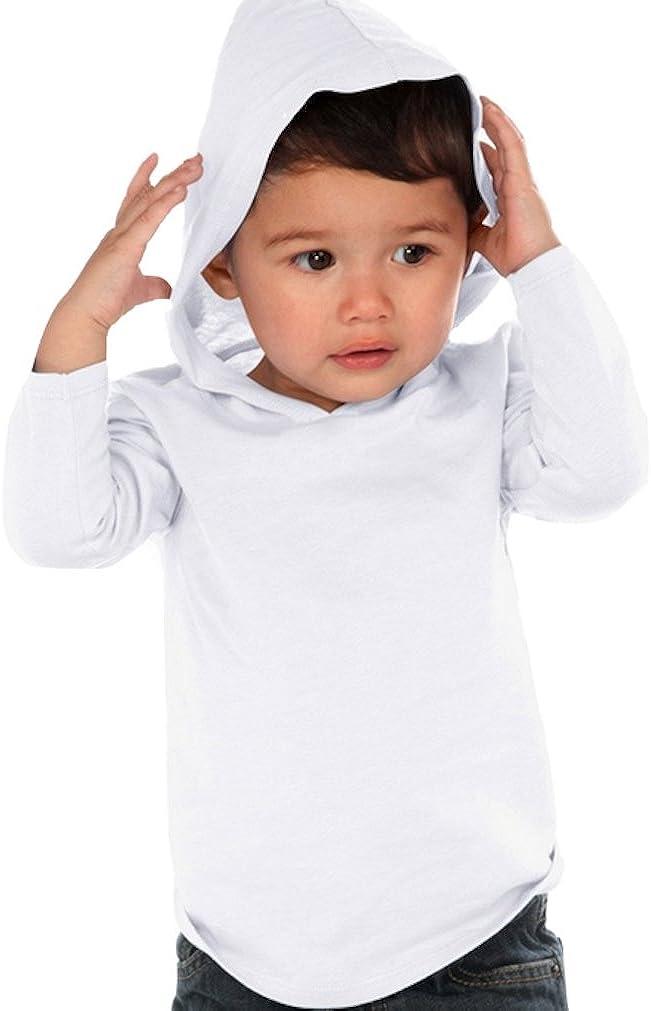 Kavio Unisex Kids Fine 100/% Cotton Jersey Long Sleeve Hooded T Shirt Sizes 6M to 5T