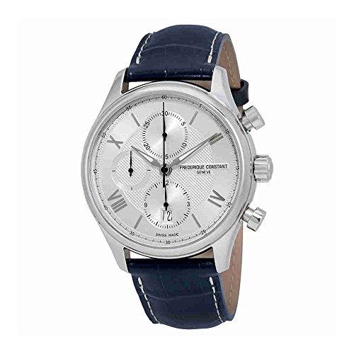 Frederique Constant Silver Dial Blue Leather Strap Men's Watch FC392MS5B6 by Frederique Constant (Image #1)