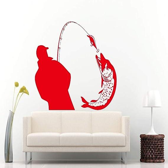 yiyiyaya Pescador Que atrapa un Gran pez con pez Poll Wall ...