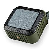 IPX6 Waterproof Bluetooth Speaker Wireless Shockproof NFC TF Card Player Handsfree Mic for Outdoor Sports, Travel, Bicycle/Bike, Cycling, Climbing, Camping, Hiking, Running, Fishing, Shower (Green)