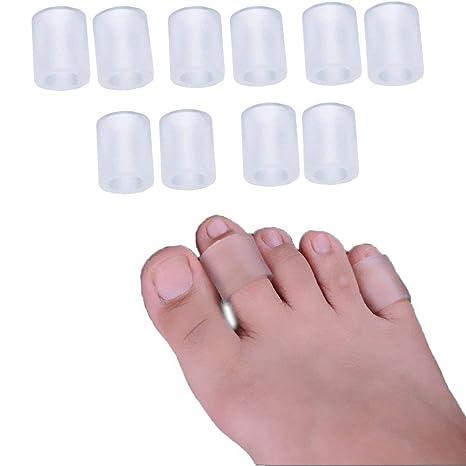 Dykook - Juego de 5 pares de mangas para dedos de pies, protectores para dedos