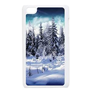Snowy Forest iPod Touch 4 Case White Delicate gift JIS_285315