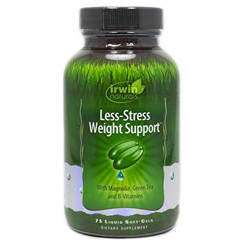 Irwin Naturals Less-Stress Weight Support, 75 Liquid Gel Caps (Supplement Stress Liquid)