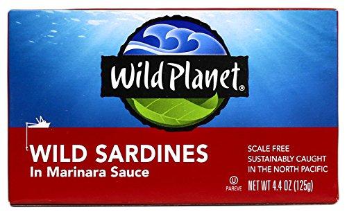 Wild Planet Wild Sardines in Marinara Sauce – 4.4oz Can (Pack of 12)