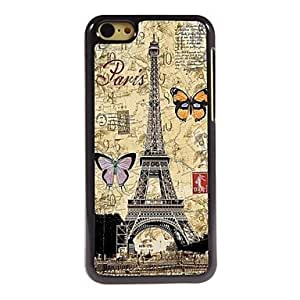 QYF Butterfly Pattern Aluminum Hard Case for iPhone 5C