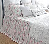Shabby Floral Bed Cover Cotton Chic Printed Bedspreads