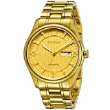 RUNOSD Luxury Automatic Mechanical Men's Watches Gold Plating Watches with Rhinestones (Gold)