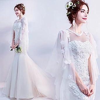 8ffe3222db37f  ノーブランド品 テーリング花嫁 ブライダルドレス ウェディングドレス ロングドレス ドレス 二次会 花嫁