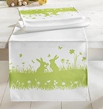 Tischdeko frühling grün  Tischläufer