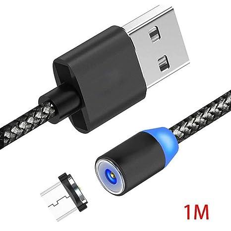 Lorjoy 1m Trenzado magnética Cable de Carga para Android línea de Carga del Cargador portátil Reemplazo del Cable