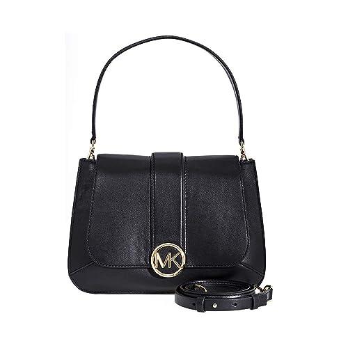 587d3633ebb212 Michael Kors media borsa di iPhone in pelle nera lillie Black Leather:  Amazon.it: Scarpe e borse