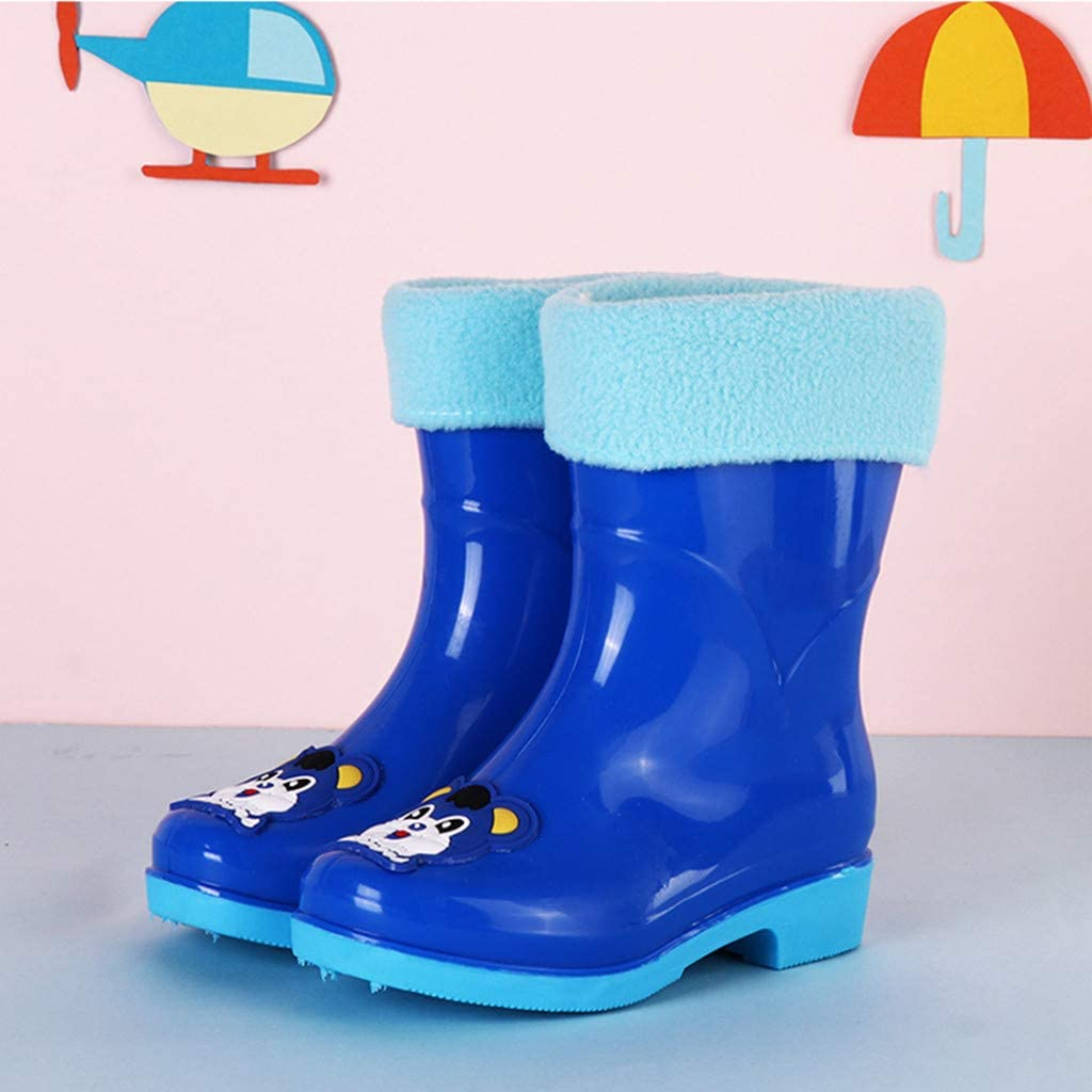 Baby Toddler Girls Boy Cute Rain Boots Shoes Bow Soft Rubber Shoes Kids Shoes