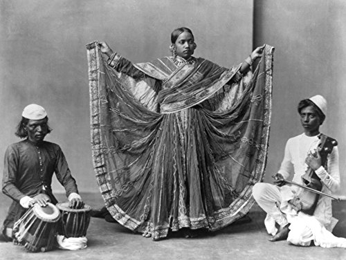 (Nautch Girl Dancing with Musicians Photograph (24x36 SIGNED Print Master Giclee Print w/Certificate of Authenticity - Wall Decor Travel)